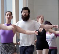 Students in dance class.