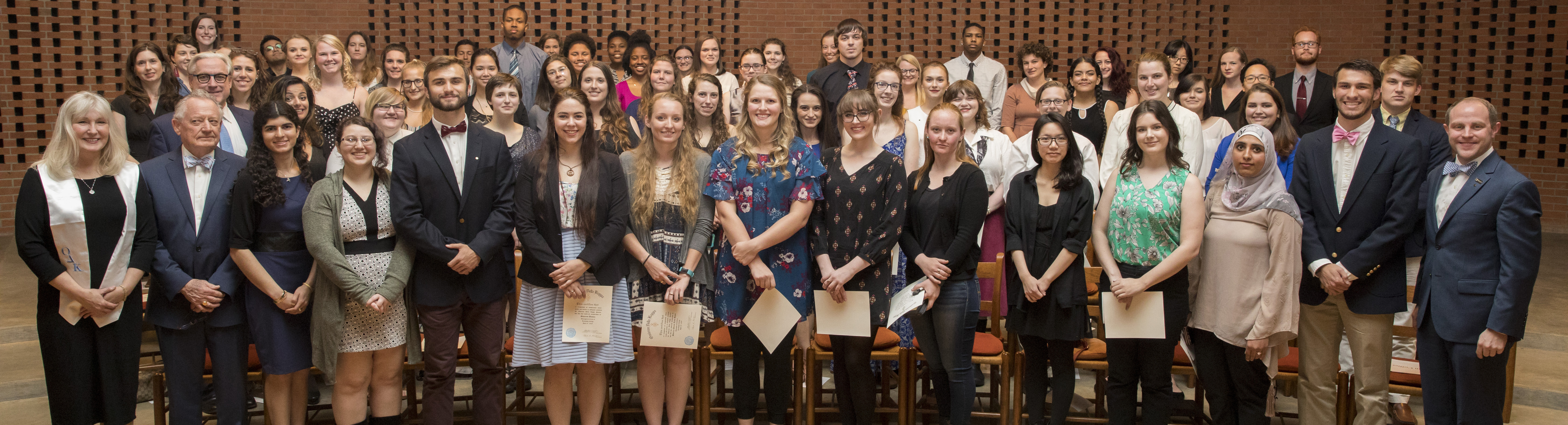 Photo of students in honor society