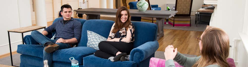 Banner Image - students in dorm lounge