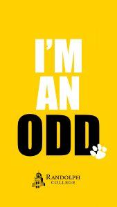 Instagram Story - Phone Background = Randolph College - Alumnae Alumni Odds Oddies - I am an Odd