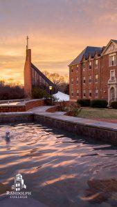 Instagram Story - Phone Background = Randolph College - Scenes - Michels Plaza fountain