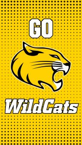 Instagram Story - Phone Background = Randolph College - Go WildCats yellow halftone pattern