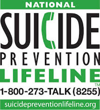 National Suicide Prevention Lifeline 1-800-275-TALK (8255) suicidepreventionlifeline.org