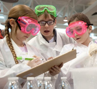photo of kids at science festival
