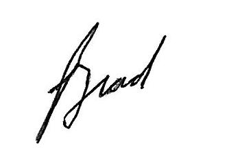 Bradley W. Bateman - Brad signature