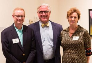 Parents Council Co-Chairs Ann Hepburn Webb '84 and William (Bill) Webb, parents of Andrew '21 together with President Bateman
