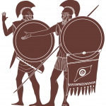 poster image for Seven Against Thebes: two Greek warriors