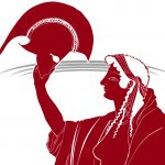 poster image for Hecuba: Greek woman holding a helmet