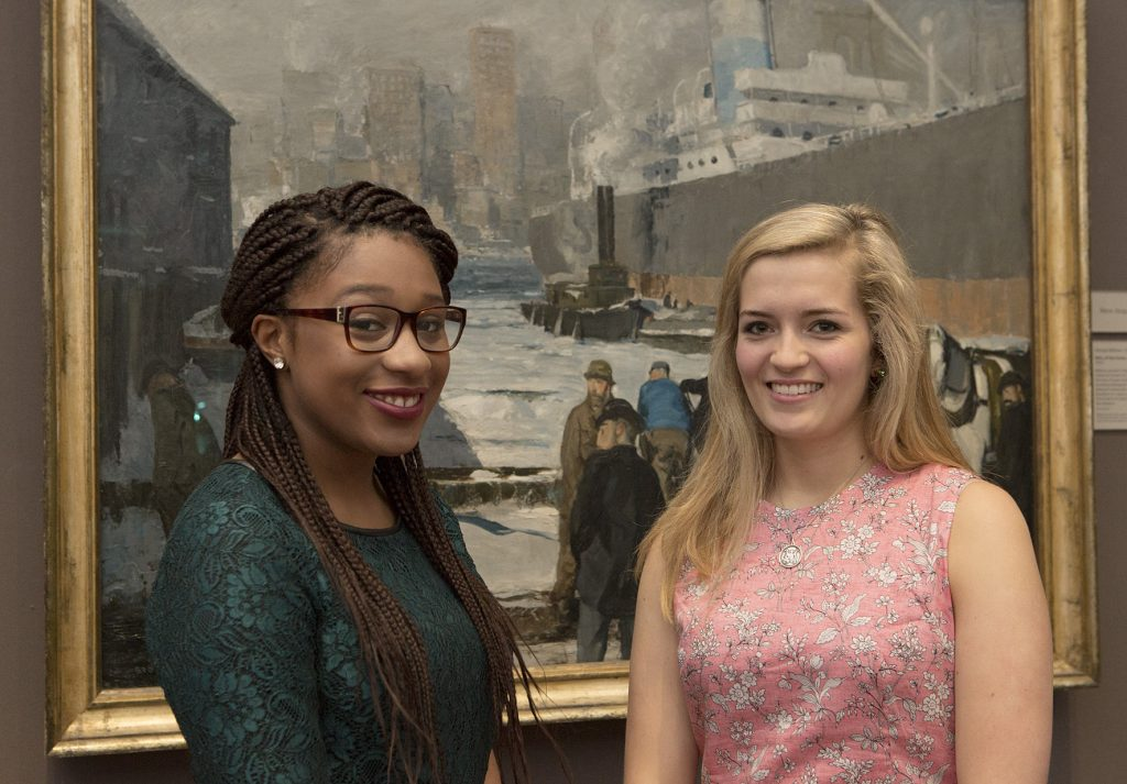 (Left to right) Seisha Scott '16 and Elisabeth Price '16 were selected as the first recipients of Randolph's new internship program at the National Gallery, London.