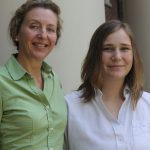 Photo of Claire Sumner with professor