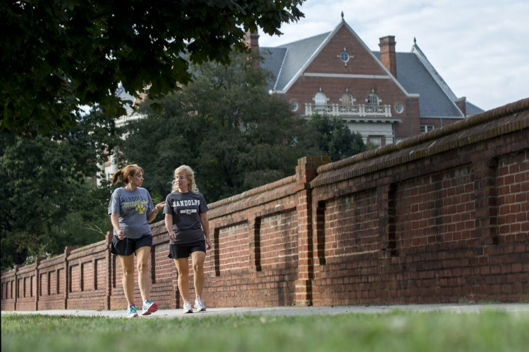 Photo of people walking outside of Randolph College