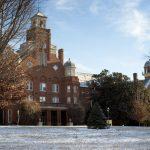 Randolph campus in the snow