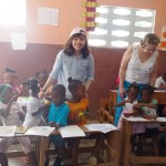 Photo of student volunteering in Haiti