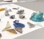 Allison-Sterrett-Krause examines specimens in the lab.