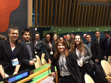 The Randolph College delegation in the main hall of the United Nations in New York City.