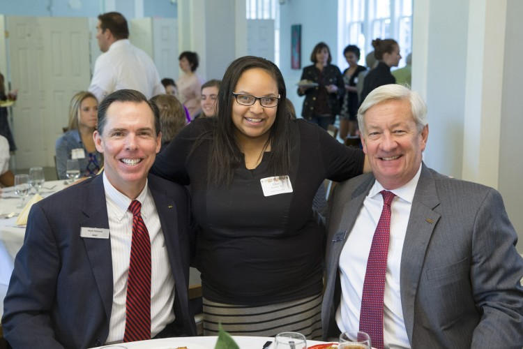 (left to right) Mark Packard of BB&T, Jamie Rucker '16, and Ray Vaughn of BB&T