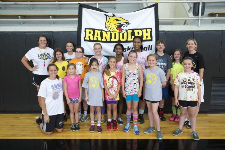Randolph College basketball day camp participants