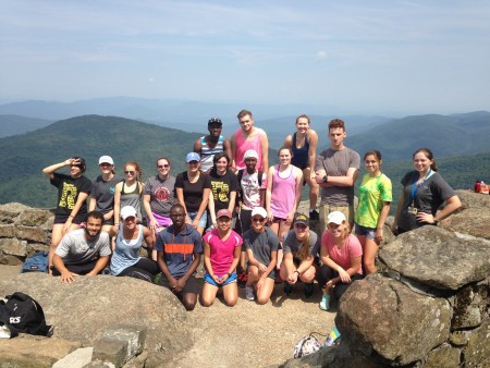 Other first-year students hiked Sharp Top Mountain Saturday.