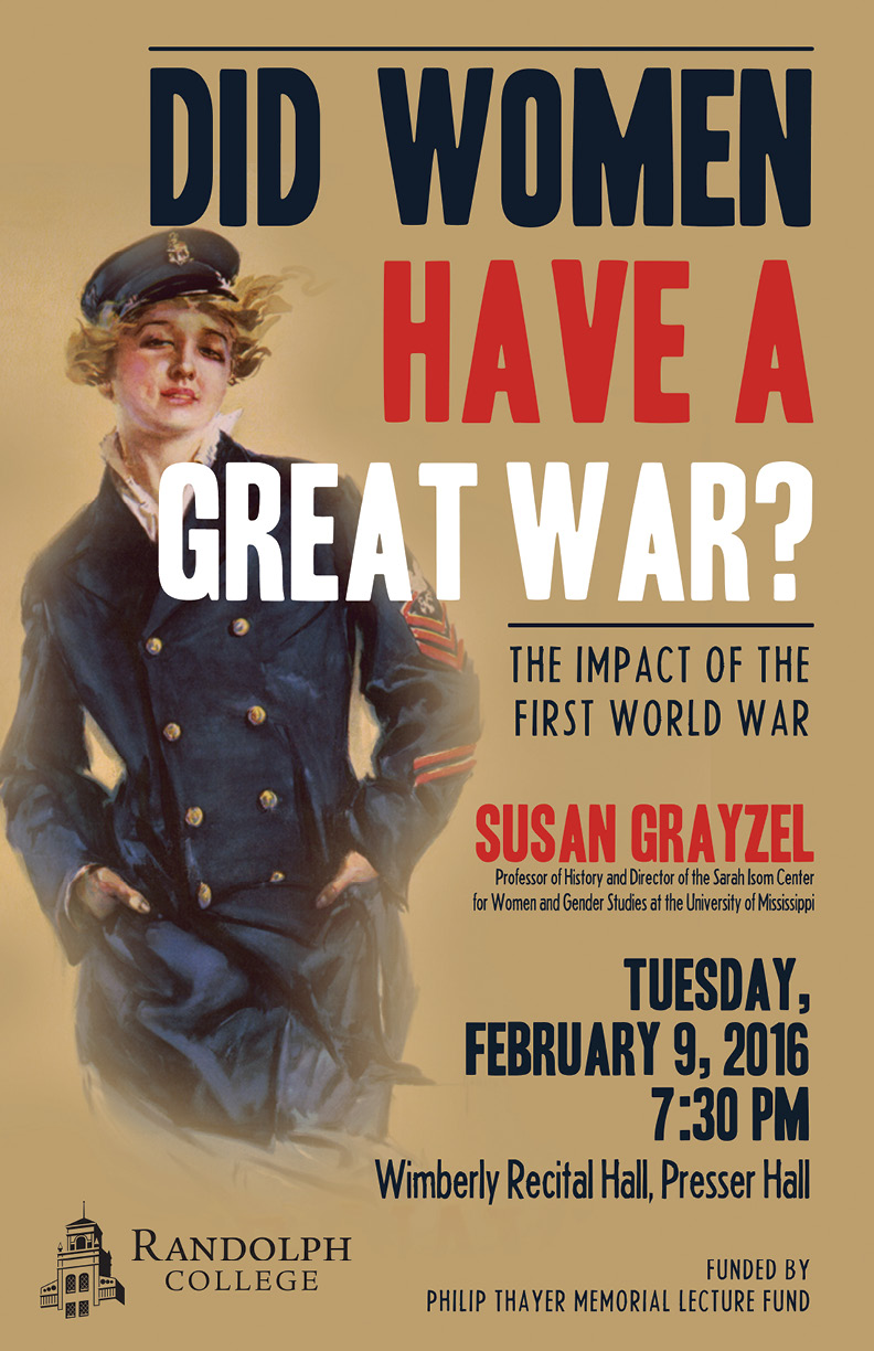 thayer lecture speaker to discuss wwi u2019s influence on women