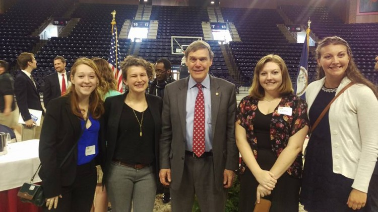 Randolph's student delegation to the Virginia Power Dialog with Virginia Department of Environmental Quality Director David Paylor.