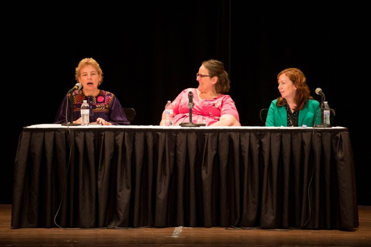 (From left) Macon Foster McCrossen '61, Gwen Beattie '01, and Alison Buckley '91 served as panelists for a Careers Through the Years discussion as part of the 2016 Reunion.