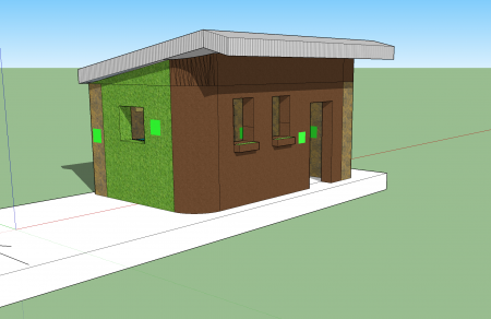Architectural design of the tiny house model