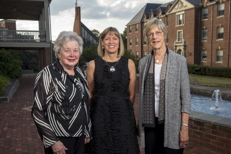 Muriel Zimmerman Casey '53, Heather Ayers Garnett '86, and Rebecca Dixon '60.