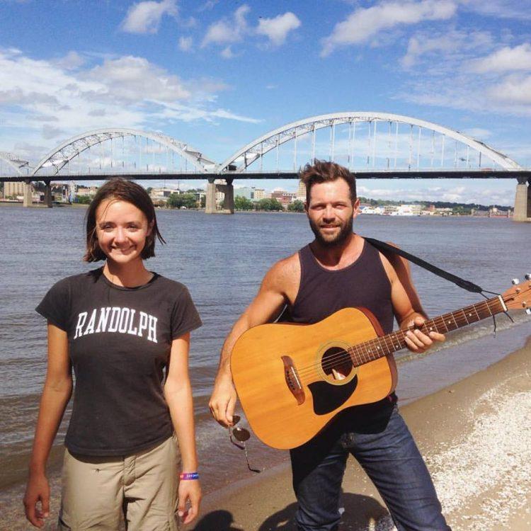 Claudia Troyer '14 and Adam Springob in the Quad Cities region of Illinois and Iowa.