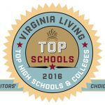 Virginia Living Top High Schools & Colleges 2016 badge