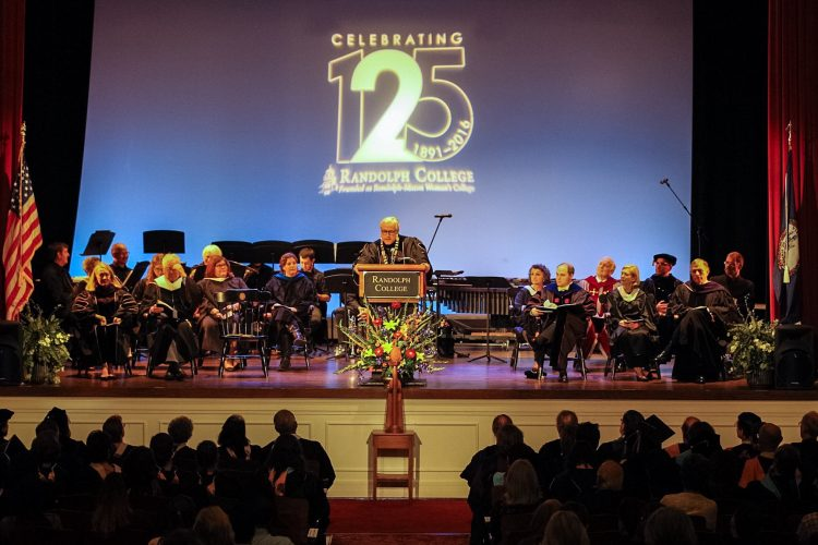 President Bradley W. Bateman speaks during Randolph's 125th Anniversary Convocation.