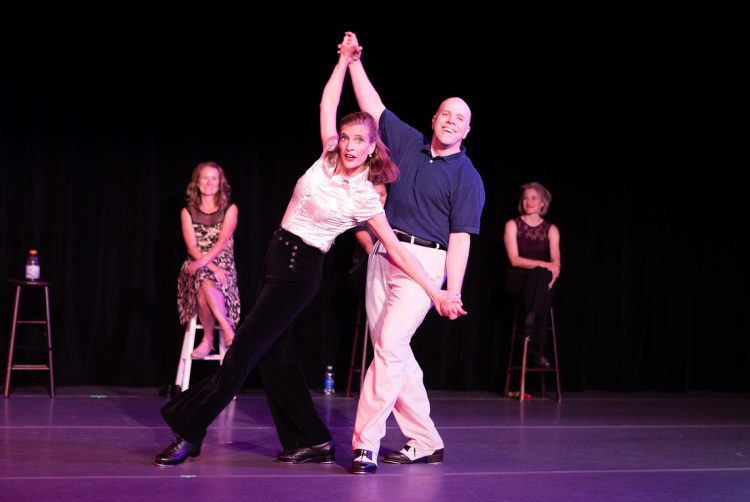Kelly Malone Dudley '95, an adjunct instructor in dance at Randolph, performs in the Renditions concert.