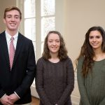 Three of the graduates who were honored at Friday's reception.