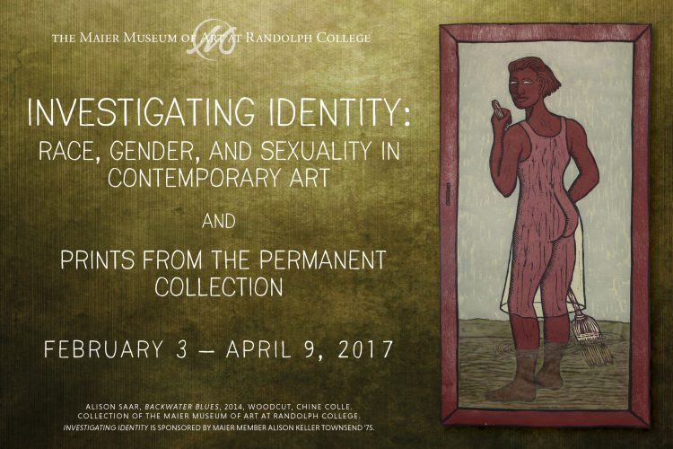 Poster for Investigating Identity exhibit