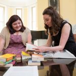 Marianne Virnelson '17 and theatre professor Stephanie Earl collaborate on their 2016 Summer Research project to compose music for some of Shakespeare's plays.