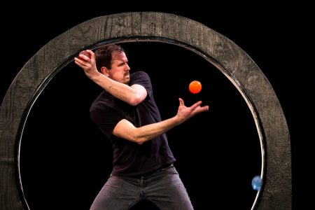Greg Kennedy performs his juggling act Thursday.
