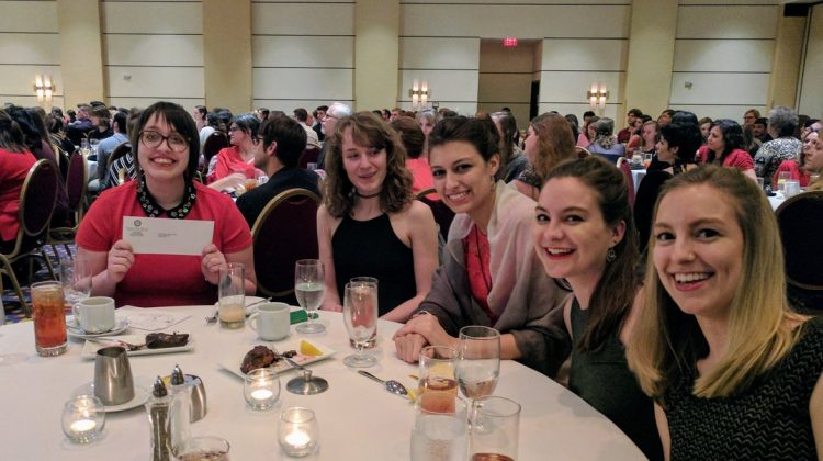 Katy Boyer '16 wins award at Sigma Tau Delta convention.