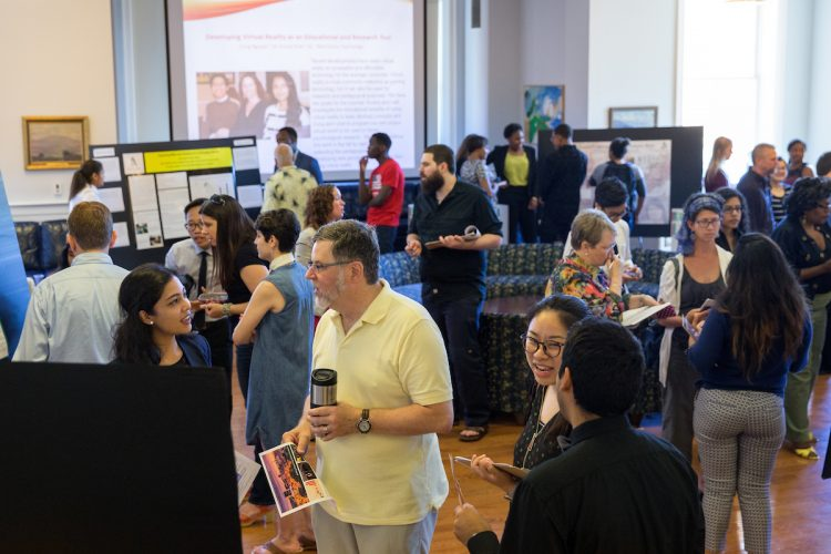 Summer Research poster presentations in the Hampson Commons