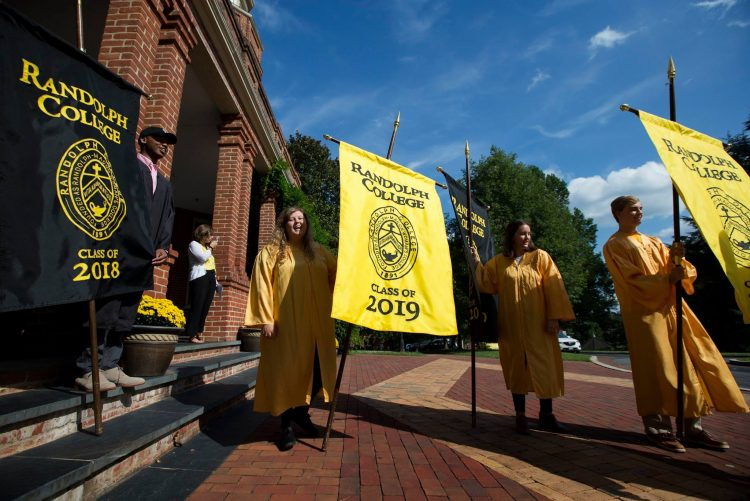 Class banners at Convocation