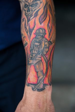"""This is what I was meant to do"" - Coulton Watson '15 has a special tattoo to symbolize his profession"