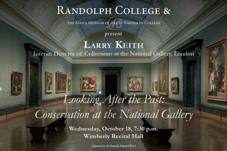 Poster for National Gallery, London speaker Larry Keith