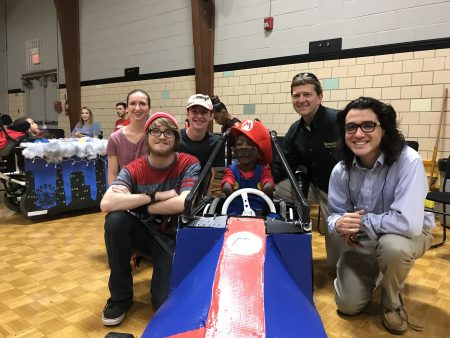 Randolph SPS students built a Mario Kart costume for a disabled child as part of Children's Assistive Technology Service's (CATS) inaugural Hallowheels fundraiser.