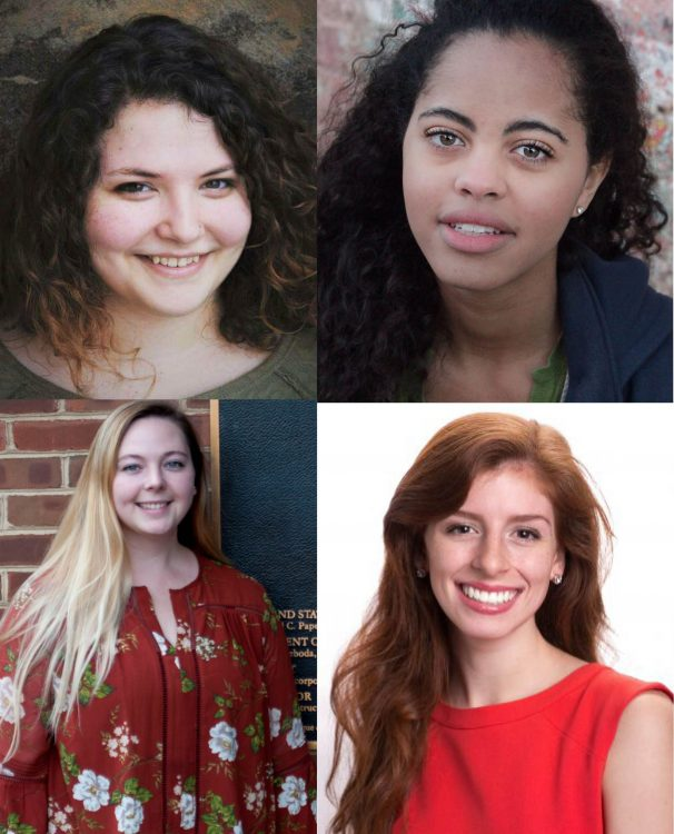 Daisy Howard '17, Morgan Wardlaw '17, Natalie Miller '17, and Rachel Carder '17