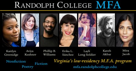 Graphic with photos of each member of the M.F.A. faculty