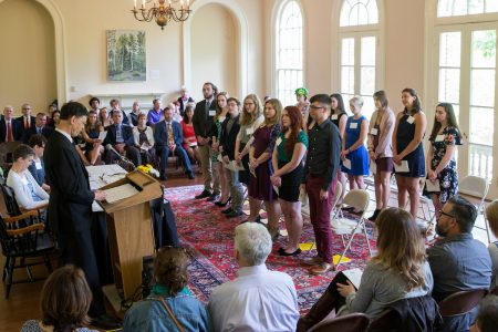 Class of 2017 Phi Beta Kappa induction ceremony.
