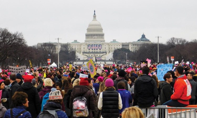 Randolph College students, faculty, and staff join the Women's March on Washington.