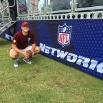 Mitch MacDonald '17 during Washington Redskins training camp in 2016.