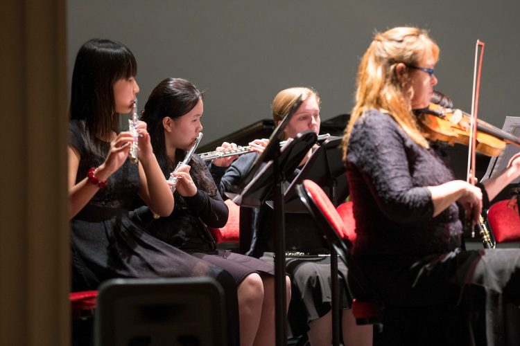 Randnolph College students and community musicians perform in a concert.
