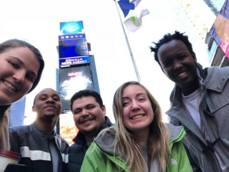 Randolph students in Times Square