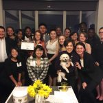 Randolph students and alumnae at a chapter event in New York City hosted by Lorena Kern '72