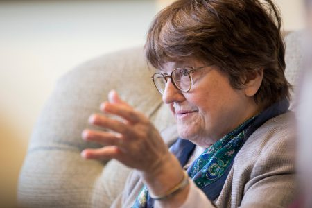 Close-up of Sister Helen Prejean